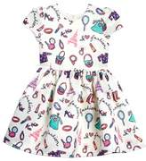 Halabaloo Toddler Girl's Fashion Print Fit & Flare Dress