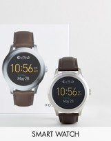 Fossil Q FTW2119 Founder Leather Smart Watch In Brown