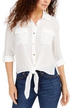 Thalia Sodi Tie-Front Top, Created for Macys