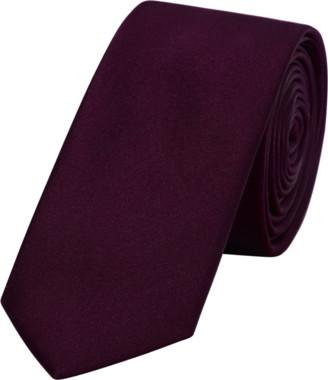 yd. Burgundy Matte Satin 6.5cm Tie
