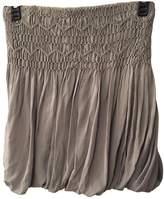 Comptoir des Cotonniers Grey Silk Skirt for Women