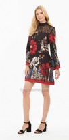 Nicole Miller New York Abstract Printed Long Sleeve Dress