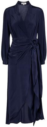 Stella silk wrap dress