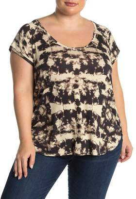 H By Bordeaux Tie-Dye Scoop Neck T-Shirt (Plus Size)