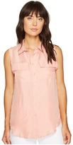Romeo & Juliet Couture Sleeveless Button-Up Shirt
