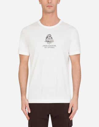 Dolce & Gabbana Cotton T-Shirt With Print