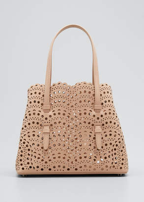 Alaia Mina Small Lux Laser-Cut Tote Bag