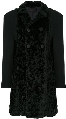 Comme Des Garçons Pre Owned Textured Double-Breasted Coat