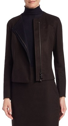 Akris Punto Camila Reversible Double-Face Silk Jacket