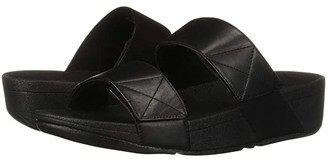 FitFlop Mina Slide (All Black) Women's Shoes