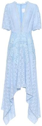 Costarellos Cotton-blend broderie anglaise dress