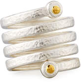 Gurhan Hammered Sterling Silver Spring Ring, Size 7