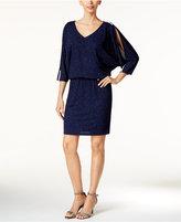 MSK Embellished Cold-Shoulder Blouson Dress