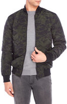 Brave Soul Quilted Camouflage Bomber Jacket