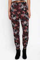 Paper Crane Fall Floral Tapered Jogger