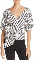 MLM Label Salo Striped Wrap Shirt
