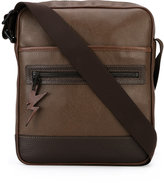 Neil Barrett lightning tag messenger bag - men - Leather - One Size