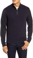 Ted Baker Hydes Slim Fit Textureblock Quarter Zip Pullover