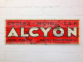 Daughters Of The Revolution Retro Style French Alcyon Cycles Sign