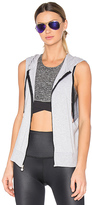 Beyond Yoga Vest Behavior Hoodie in Gray