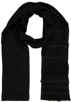 Megan Park Ruffled-Accented Wool Scarf w/ Tags