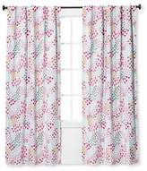 Pillowfort Twill Light Blocking Floral Print Curtain Panel Apricot Ice