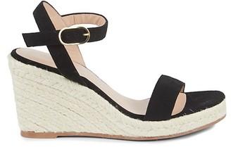 Stuart Weitzman Teddi Rope Trim Wedge Sandals