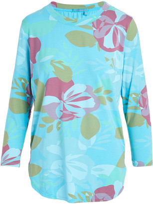 Fresh Produce Women's Blouses LUNA - Luna & Pink Fresh Blossoms Catalina Long-Sleeve Tunic - Women