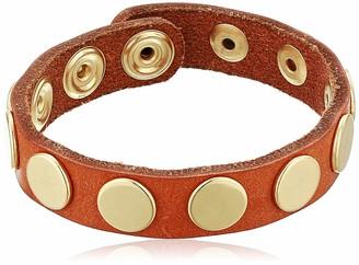 Linea Pelle Cognac Studded Bracelet