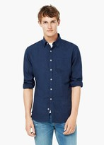 Mango Outlet Slim-Fit Flannel Shirt