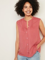 Old Navy Sleeveless Button-Front Cocoon Top for Women