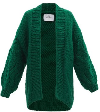 Mr. Mittens Cable-knit Wool Cardigan - Green