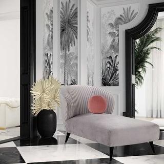 TOV Furniture Maliah Pleated Velvet Settee