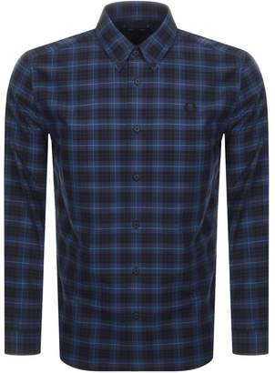 Fred Perry Long Sleeved Tartan Shirt Navy