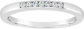 Affinity Diamond Jewelry Affinity 14K Gold Channel Set 1/10 cttw Diamond Ring