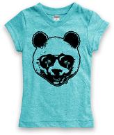 Urban Smalls Heather Aqua Panda Fitted Tee - Toddler & Girls