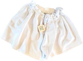 Base Range White Cotton Shorts for Women