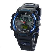 PASNEW 50m Digital-analog Water-proof Sport Swimming Digital Watch for Boys Girls (Blue)