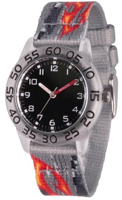 Red Balloon Boys' Clear Plastic Time Teacher Watch, 1-Pack