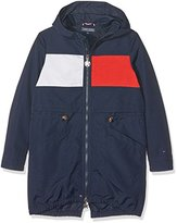 Tommy Hilfiger Girl's Thkg Colorblock Parka Jacket