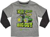 John Deere Gray 'Here Comes the Big Guy' Double-Layer Tee - Infant