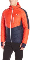 Puma Men's Active Norway Jacket, Peacoat/Red Blast, L
