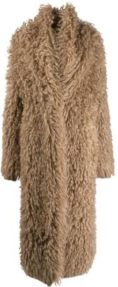 Brunello Cucinelli Fluffy Button-Front Coat