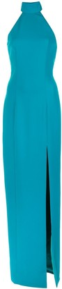 Jay Godfrey Halter Neck Maxi Dress
