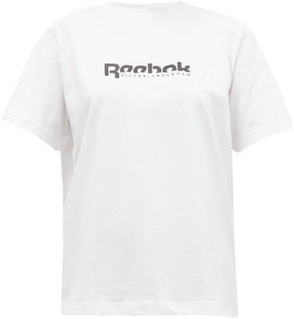 Reebok x Victoria Beckham Logo-print Cotton-jersey T-shirt - White
