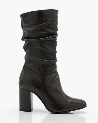 Le Château Italian-Designed Leather Slouch Boot