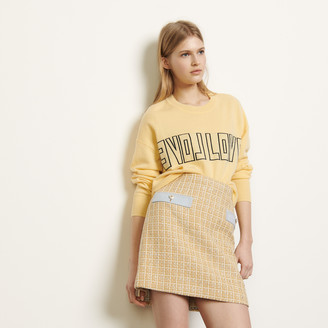 Sandro Short tweed skirt