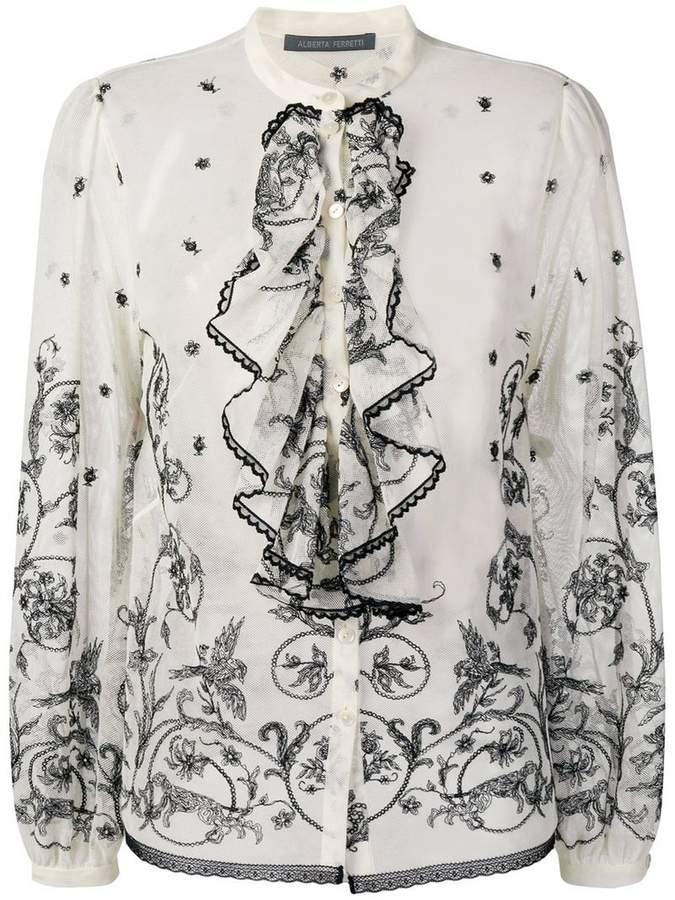 Alberta Ferretti victorian ruffle blouse