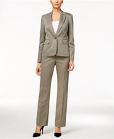 Le Suit One-Button Striped Pantsuit