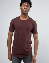 ONLY & SONS Longline T-shirt With Raw Edge And Stitch Detail